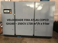 Foto ilustratida do produto Compressor Parafuso Atlas Copco GA -160 – 250 CV